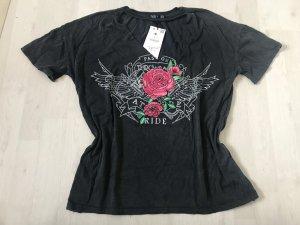Neues, dunkelgraues T-Shirt von Bershka
