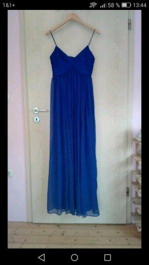 Neues elegantes blaues bodenlanges Abendkleid von Mango Größe M