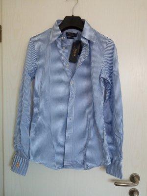 Neues figurbetontes Hemd / Bluse von Ralph Lauren Polo blau-weiß Gr.34