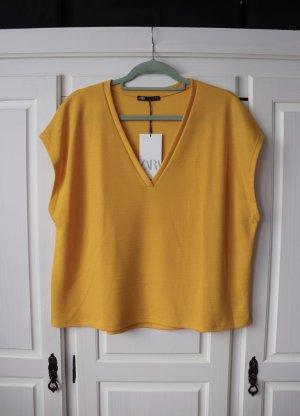 Neues gelbes Boxy Shirt von Zara Größe S Oversize