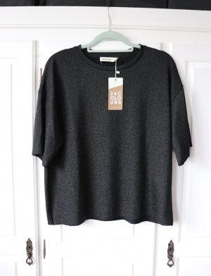 24Colours Oversized Shirt black-silver-colored