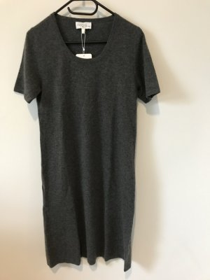 Neues, graues Kaschmir (100%)  Kleid von Peter Hahn mit Etikett in Größe 36