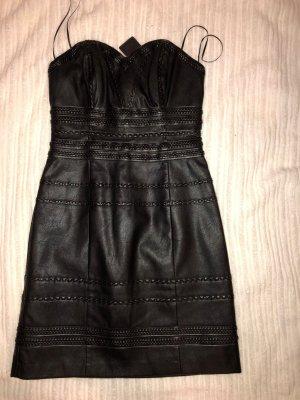 Neues Guess Kunst Leder Kleid XS 34!
