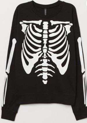 Neues H&M Sweatshirt, schwarz, Skelett, Gr. M