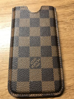 Louis Vuitton Custodia per cellulare beige-marrone scuro