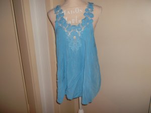 Shirt Tunic light blue cotton