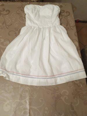 Hilfiger Denim Vestido bandeau blanco Algodón