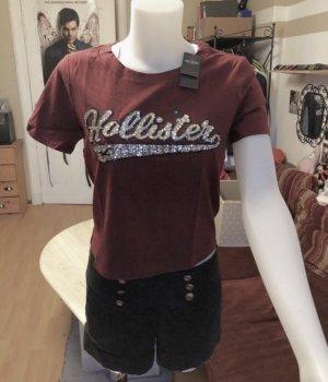 Neues Hollister Glitzer Shirt Croptop S/M