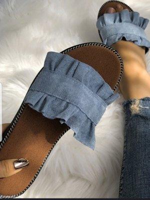 Sandalo Dianette blu fiordaliso