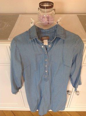 Mandarin Vestido vaquero azul celeste-azul aciano