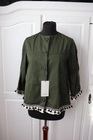 Neues Khaki farbendes Jäckchen von Zara Größe XS S