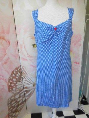 neues KING LOUIE Kleid mit Karos blau weiss im Vintage Style , figurbetont strechig Gr. XL sollte bei Gr. 42 passen, bei Gr. 44 muss man schon sehr durchtrainiert sein da es anliegt