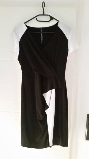 Andrew Marc New York Vestido de noche blanco-negro