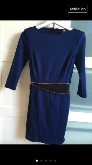 Neues Kleid Gr.36 blau/schwarz