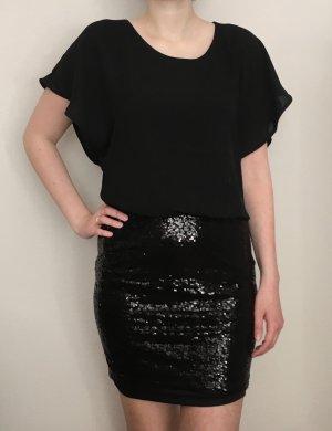Neues Kleid kleines Schwarzes mit Pailletten