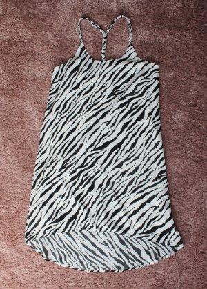 H&M Vestito vokuhila bianco-nero