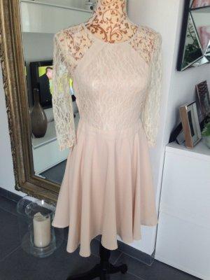 Neues Kleid Nude spitze Lace rare London 38
