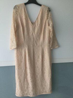 Neues Kleid!!! Spitzenkleid in Nude Größe 40