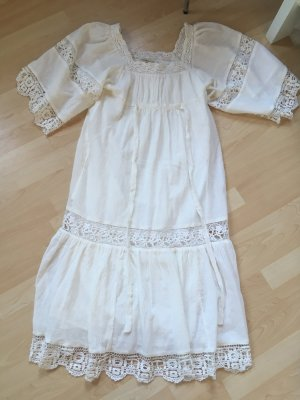 Denim & Supply Ralph Lauren Robe empire blanc cassé-blanc coton