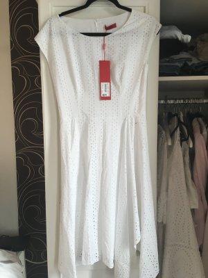 Hugo Boss A-lijn jurk wit Katoen