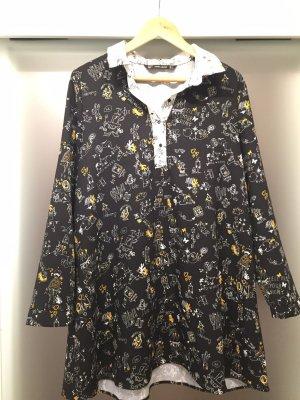Zara Robe noir-jaune primevère