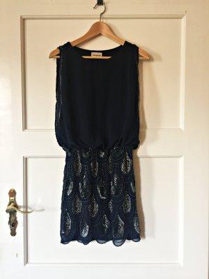 Neues Lace & Beads Minikleid mit Pailletten in Gr. S