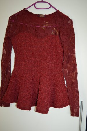 Instyle Long Sweater bordeaux