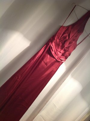 NEUES langes Satin-Abendkleid in fuchsia/pink, Neckholder, Gr.38
