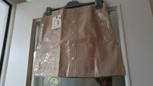 1.2.3 Paris Leather Skirt beige imitation leather