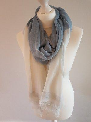Écharpe blanc-bleu