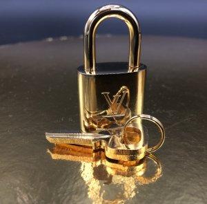 Neues Louis Vuitton Schloss mit 2 Schlüsseln No. 313 Metall Messing farbend