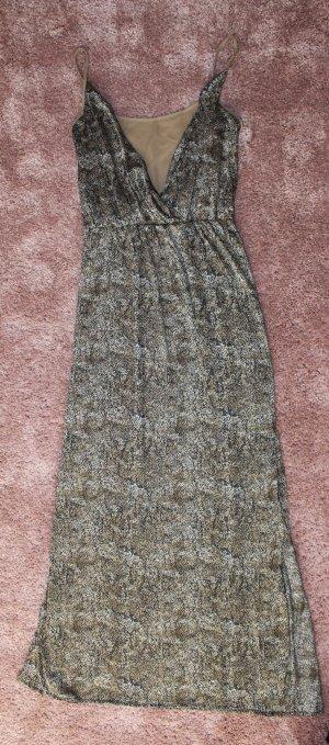 Mango Maxi abito grigio-verde-cachi