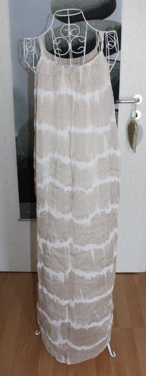 Maxi-jurk wit-beige