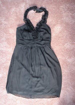 Neues Neckholder Abendkleid in schwarz