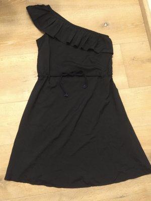 Even & Odd Vestido de un hombro negro