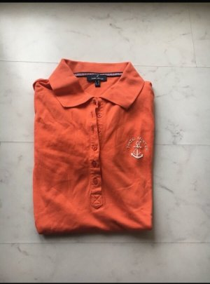 Daniel Hechter Camiseta tipo polo naranja