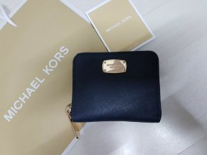 Michael Kors Wallet gold-colored-dark blue