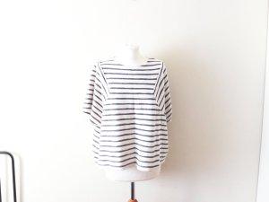 neues oversized Promod Shirt blau weiß gestreift Gr. L 38 40