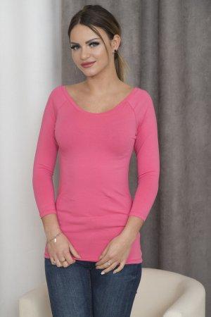 Neues Pink/Rose Longshirt Pulli mit V-Ausschnitt auch am Rücken passt 34-38
