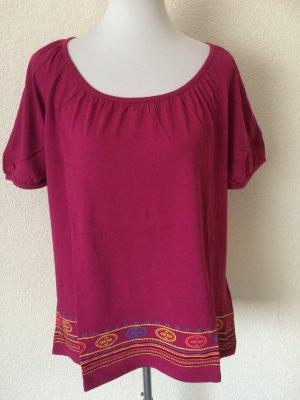neues pinkes / rosa Shirt mit bunten Verzierungen von Sheego - Gr. 44/46