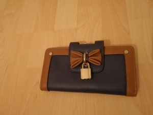 Cartera color bronce-azul