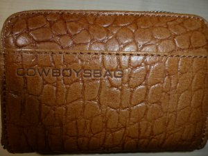 Cowboysbag Wallet cognac-coloured imitation leather