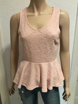 Neues rosa Peplum Top