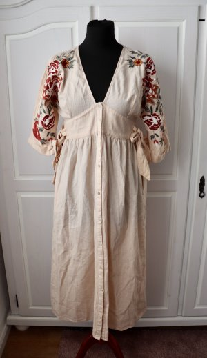 Neues rose farbendes Maxi Kleid von Zara Größe M mit Stickerei Floral