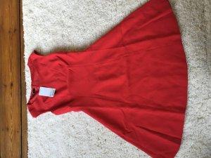 Neues Rotes Sommerkleid Knie lang ausgestellt