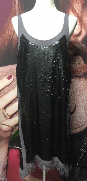 Sack's Luxury Vestido de lentejuelas gris-negro