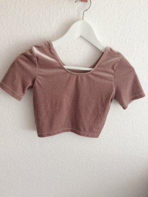 Neues Samt Crop Top von American Apparel