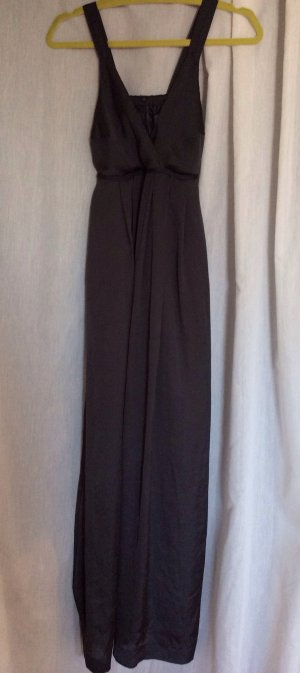 NEUES Satin-Abendkleid in schwarz-anthrazit, m. Bindebändern, Gr 36