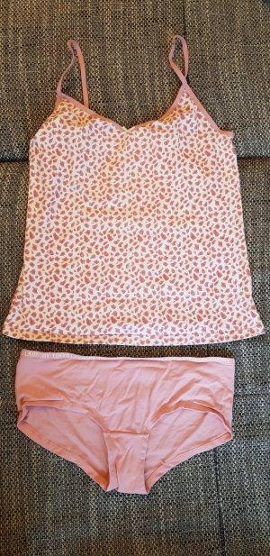 Pyjama wit-rosé