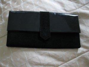 Neues schönes, elegantes Lederclutch von Paris 123, schwarz,